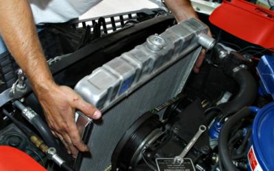 El radiador del coche